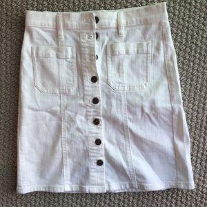 New - J Crew Demin white skirt